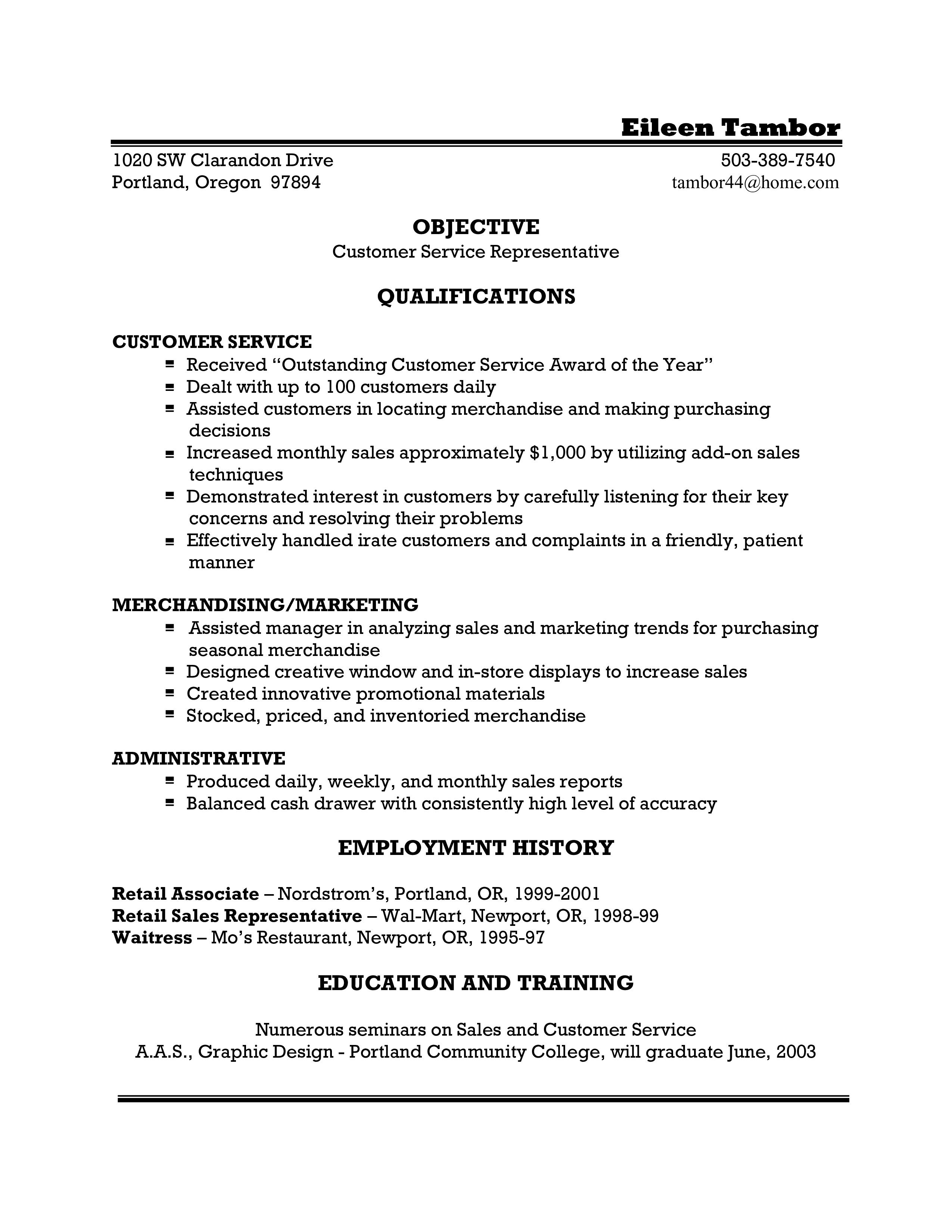 004 Frightening Customer Service Resume Template Example  Templates 2018 Word CvFull