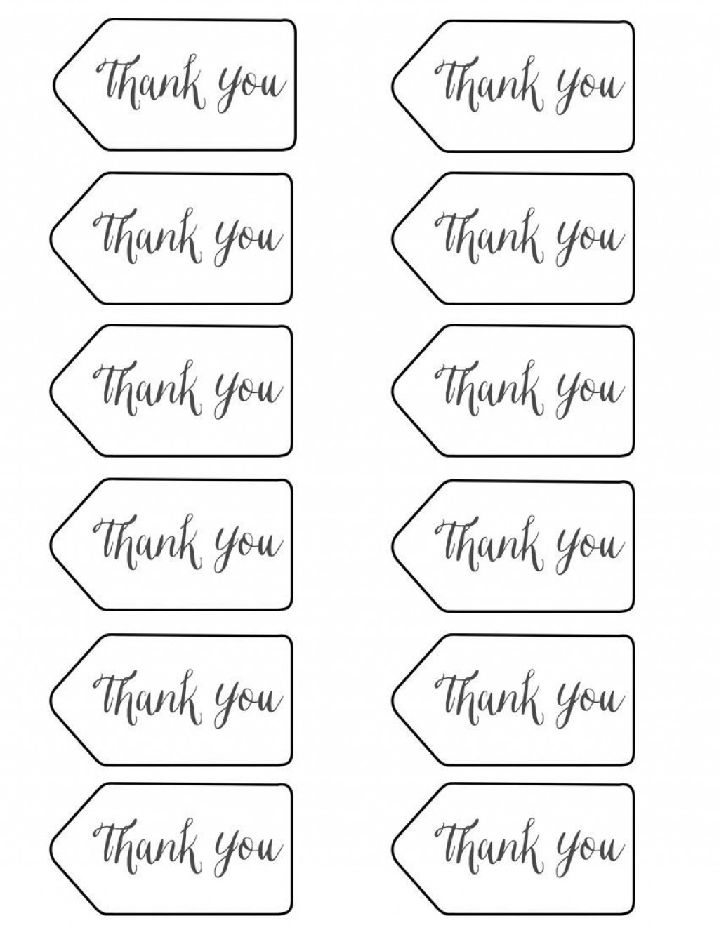 004 Frightening Free Printable Thank You Gift Tag Template Idea  TemplatesLarge