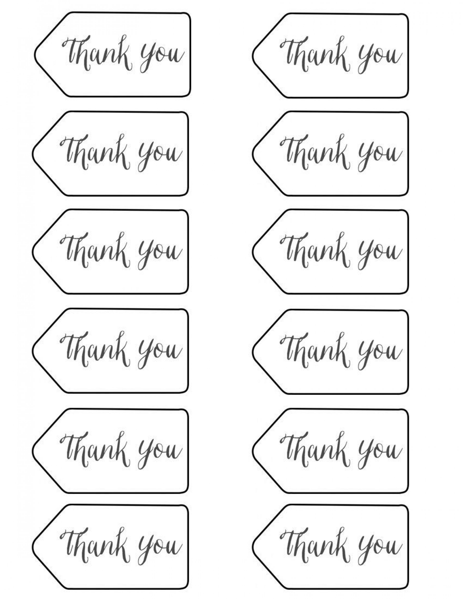 004 Frightening Free Printable Thank You Gift Tag Template Idea  Templates1920