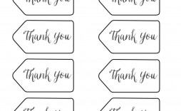 004 Frightening Free Printable Thank You Gift Tag Template Idea  Templates