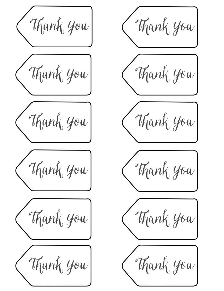 004 Frightening Free Printable Thank You Gift Tag Template Idea  TemplatesFull