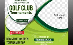 004 Frightening Golf Tournament Flyer Template Concept  Word Free Pdf