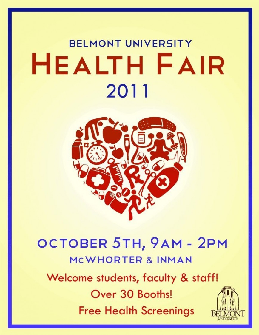 004 Frightening Health Fair Flyer Template Highest Quality  And Wellnes Word868