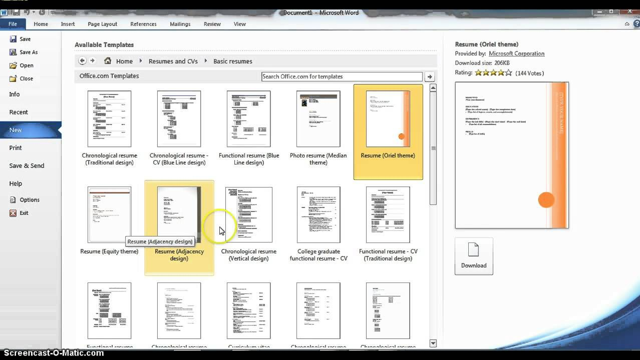004 Frightening How To Create A Resume Template In Microsoft Word Highest Quality  Cv/resume DocxFull