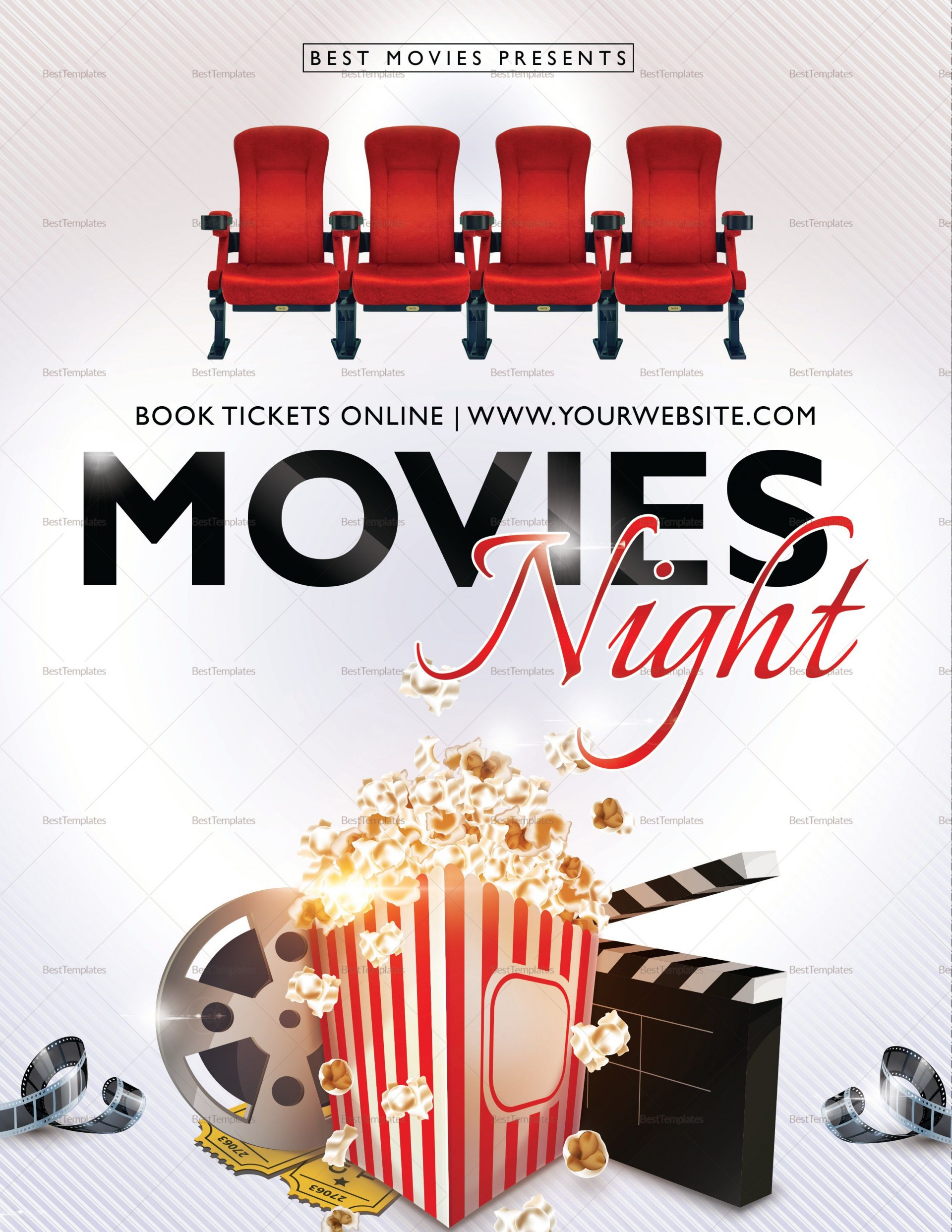 004 Frightening Movie Night Flyer Template Highest Quality  Templates Free Microsoft Word1920