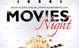 004 Frightening Movie Night Flyer Template Highest Quality  Templates Free Microsoft Word
