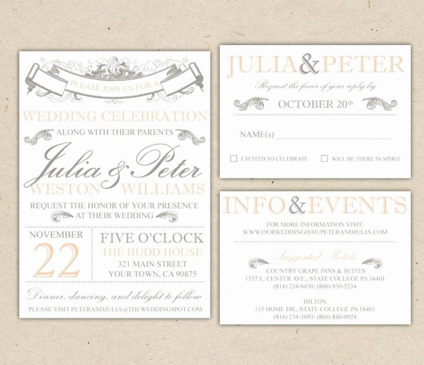 Ms Word Wedding Invitation Template Addictionary