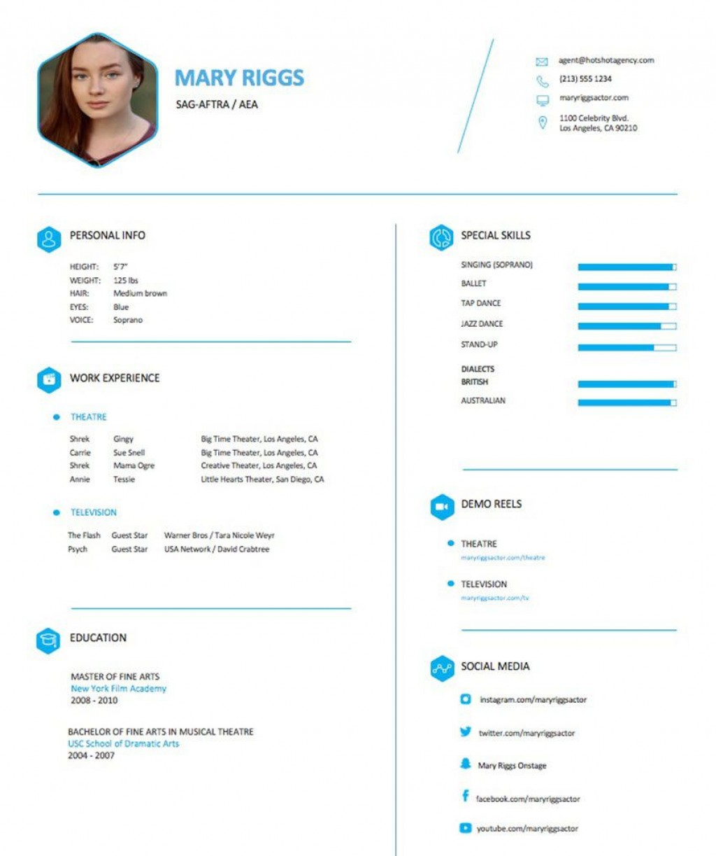 004 Frightening Musical Theater Resume Template Word High Definition  TheatreLarge