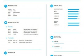 004 Frightening Musical Theater Resume Template Word High Definition  Theatre