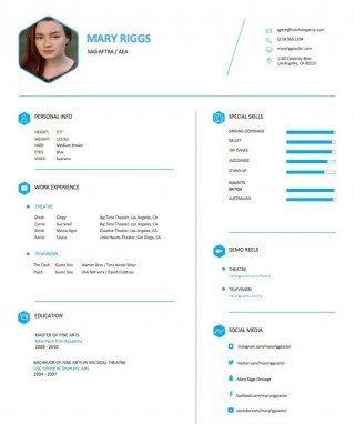 004 Frightening Musical Theater Resume Template Word High Definition  Theatre320