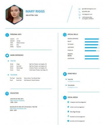 004 Frightening Musical Theater Resume Template Word High Definition  Theatre360