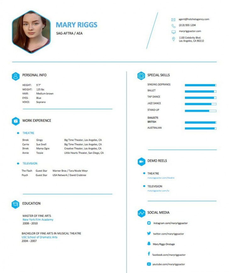 004 Frightening Musical Theater Resume Template Word High Definition  Theatre728