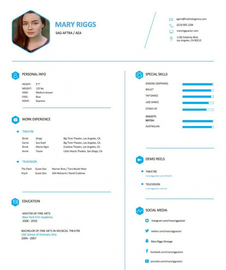 004 Frightening Musical Theater Resume Template Word High Definition  Theatre868