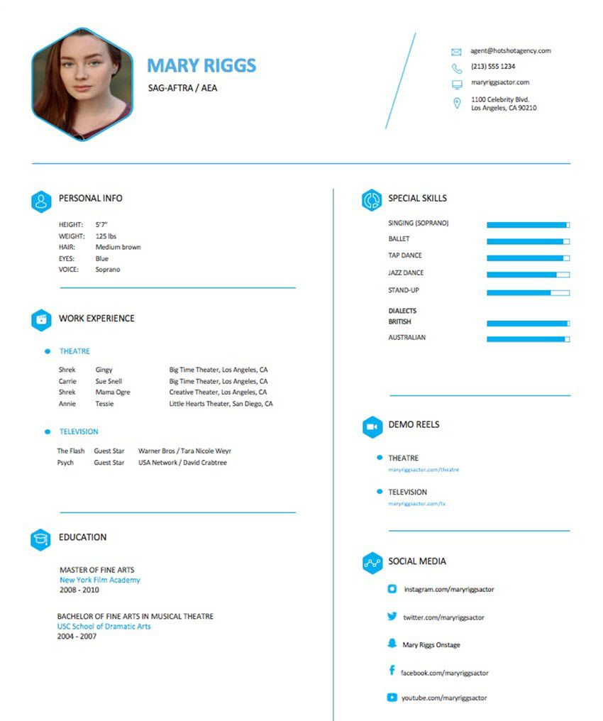 004 Frightening Musical Theater Resume Template Word High Definition  TheatreFull