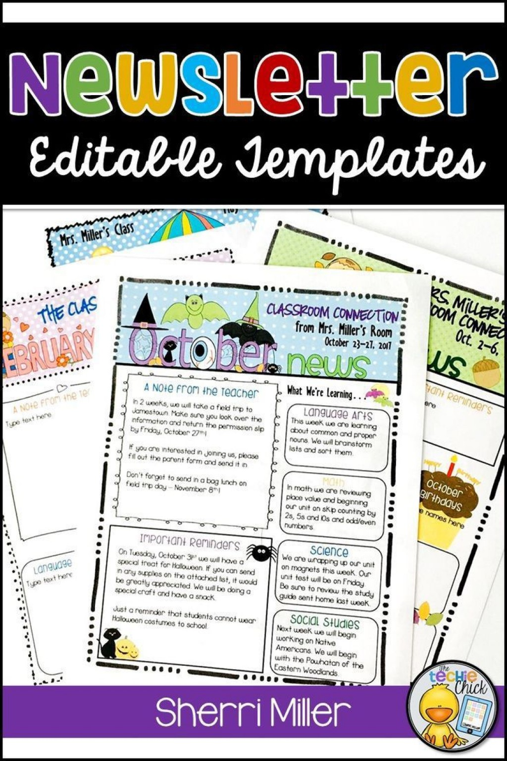 004 Frightening Newsletter Template For Teacher To Parent Picture  ParentsLarge