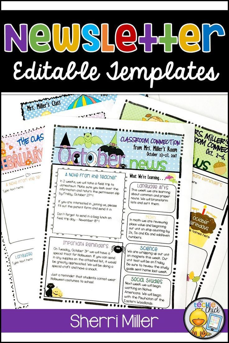 004 Frightening Newsletter Template For Teacher To Parent Picture  ParentsFull
