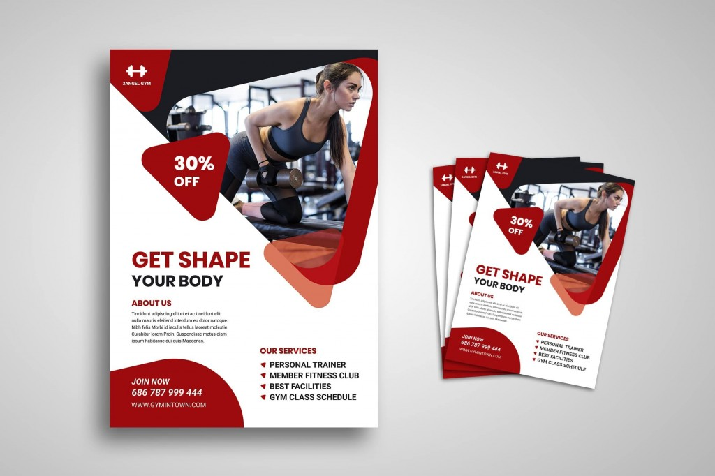 004 Frightening Personal Trainer Flyer Template High Def  Word PsdLarge