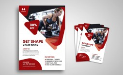 004 Frightening Personal Trainer Flyer Template High Def  Word Psd