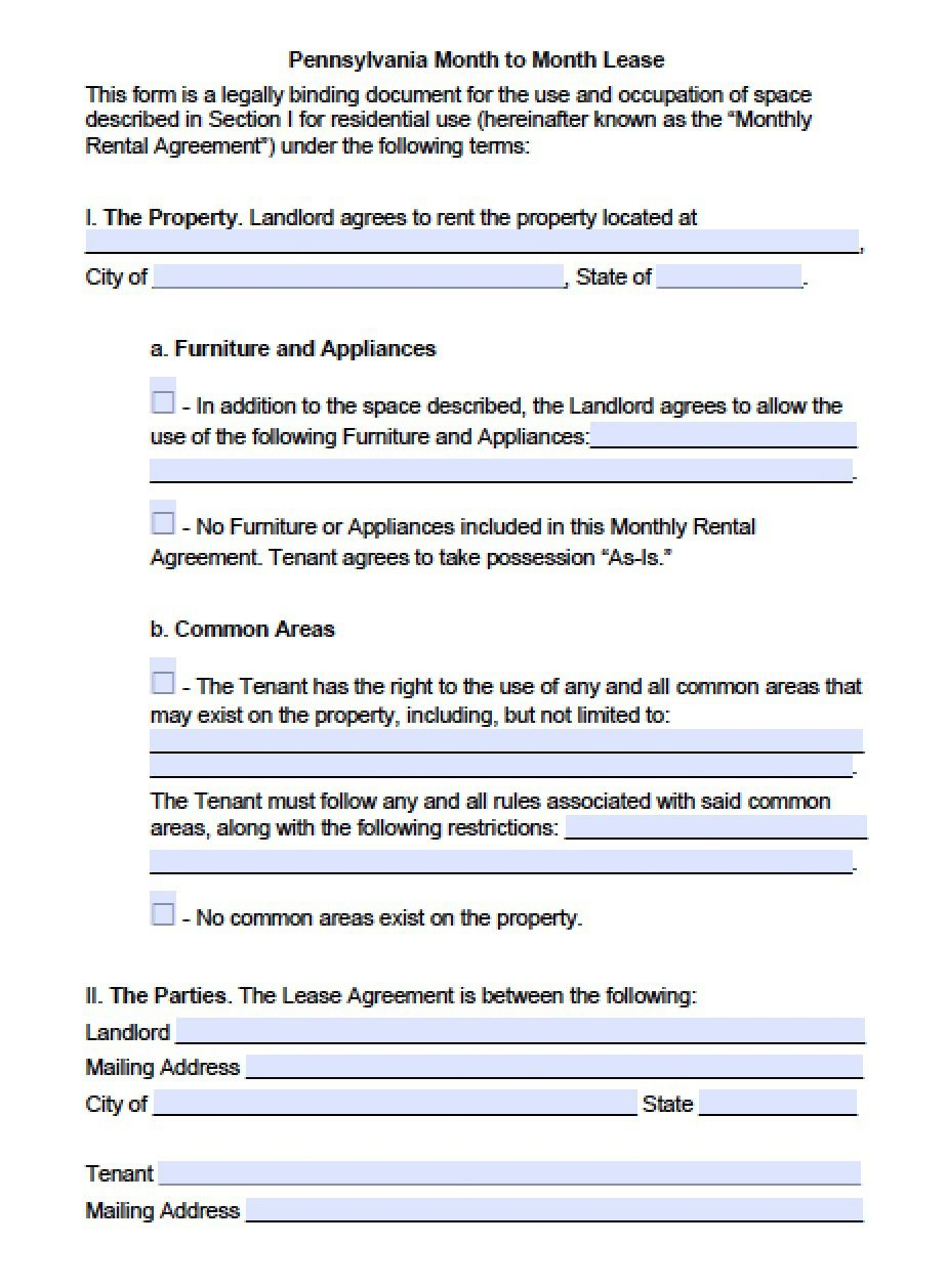 004 Frightening Rent To Own Contract Template Pennsylvania Concept Full