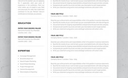 004 Frightening Single Page Resume Template Sample  One Word For Experienced Fresher