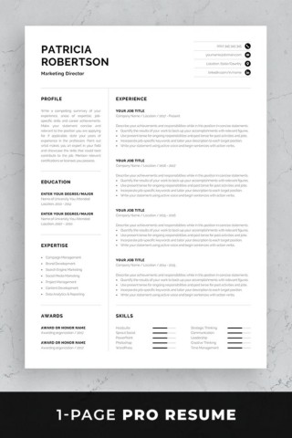 004 Frightening Single Page Resume Template Sample  Cascade One Free Download Word For Fresher320