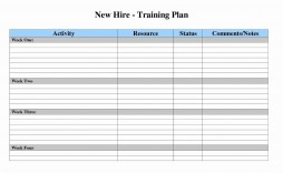 004 Frightening Training Plan Template Excel Image  Schedule Download Calendar Free