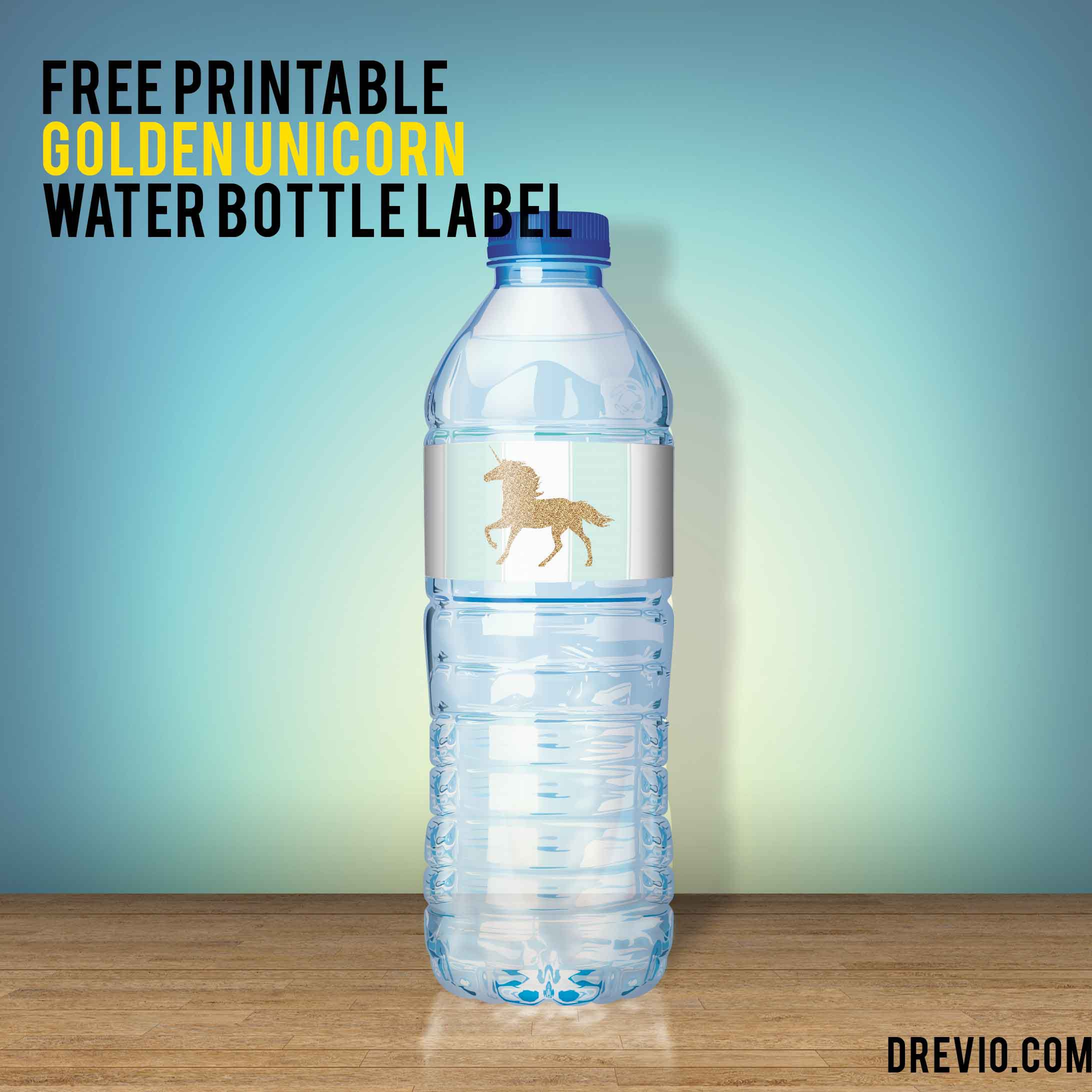 004 Frightening Water Bottle Label Template Free Photo  Word Superhero PhotoshopFull