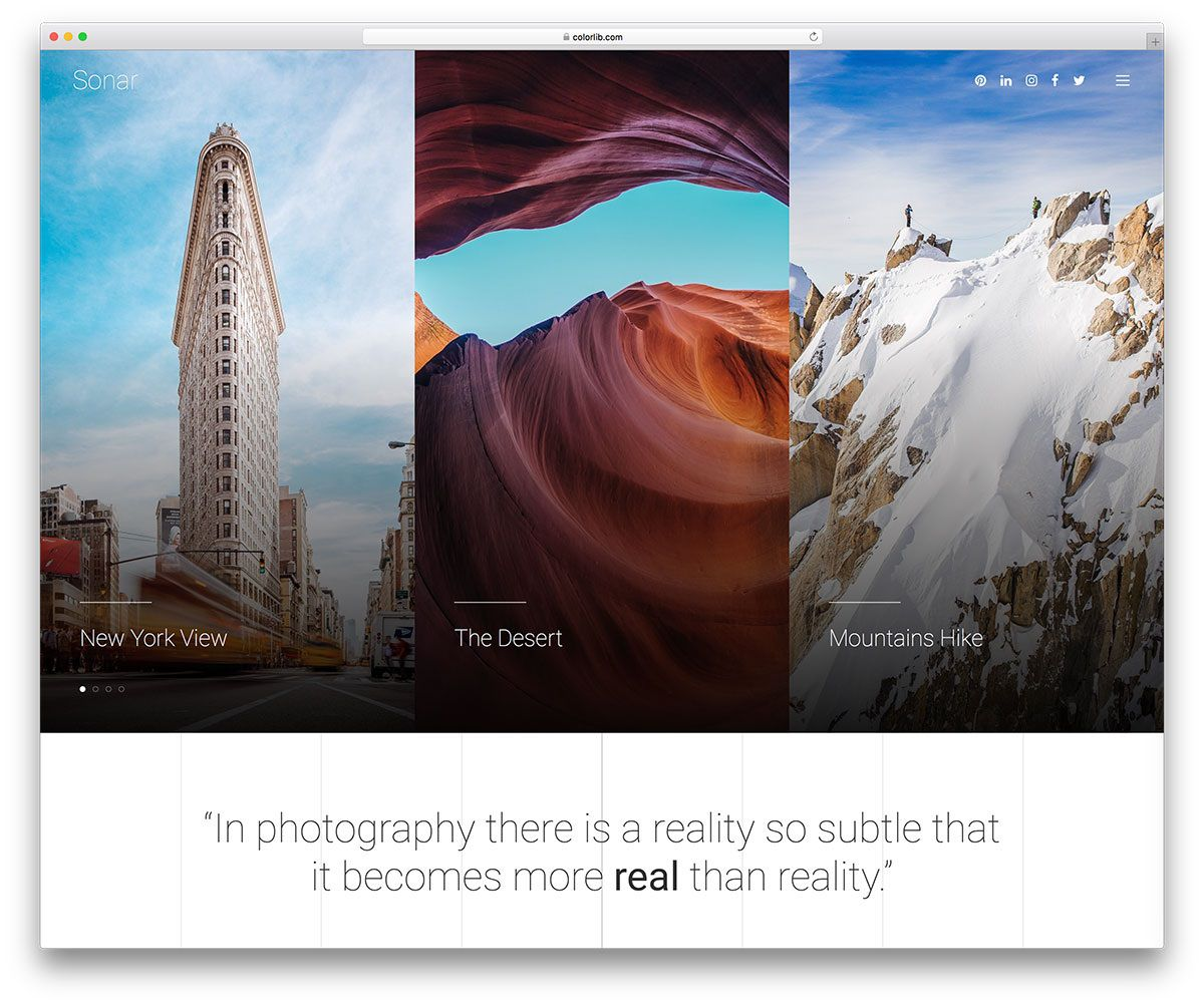 004 Frightening Web Template For Photographer Idea  Photography
