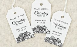 004 Frightening Wedding Favor Tag Template Picture  Templates Editable Free Party Printable