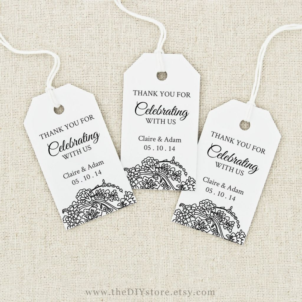 004 Frightening Wedding Favor Tag Template Picture  Templates Editable Free Party PrintableFull