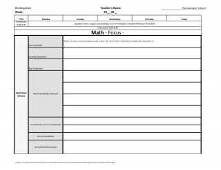 004 Frightening Weekly Lesson Plan Template Inspiration  Blank Free High School Danielson Google Doc320