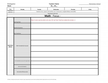 004 Frightening Weekly Lesson Plan Template Inspiration  Blank Free High School Danielson Google Doc360