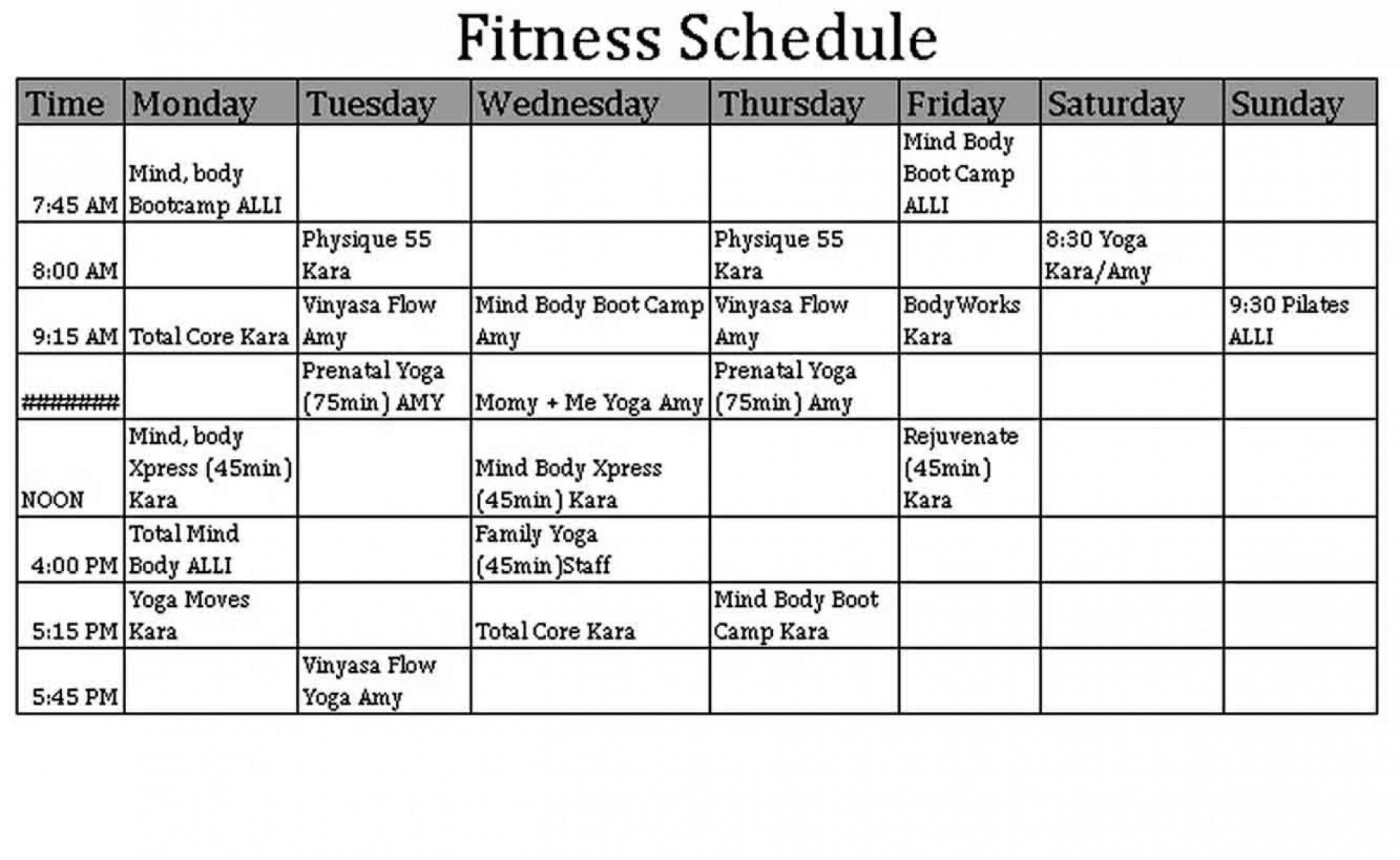 004 Frightening Weekly Workout Schedule Template Inspiration  12 Week Plan Training Calendar1920