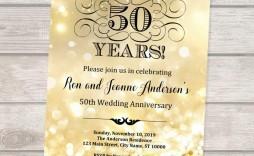 004 Imposing 50th Wedding Anniversary Invitation Design Sample  Designs Wording Card Template Free Download