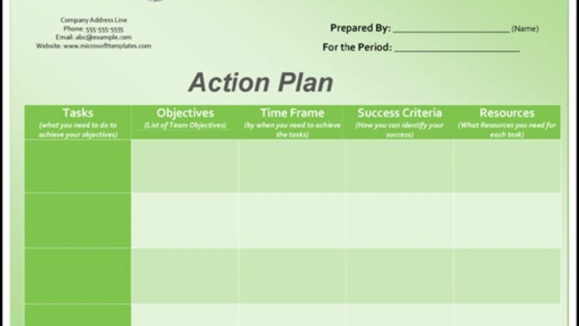 004 Imposing Action Plan Template Excel Concept 1920