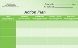 004 Imposing Action Plan Template Excel Concept