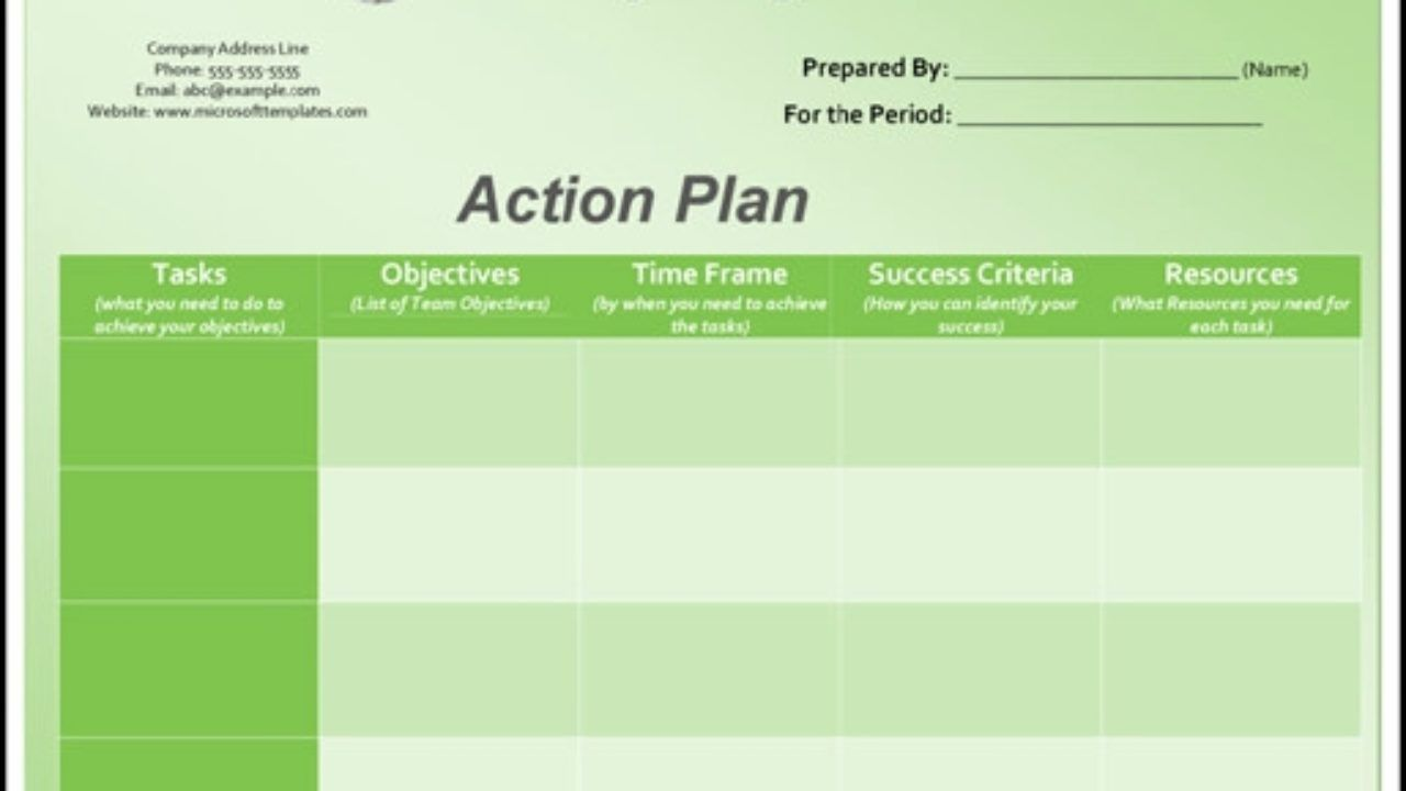 004 Imposing Action Plan Template Excel Concept Full