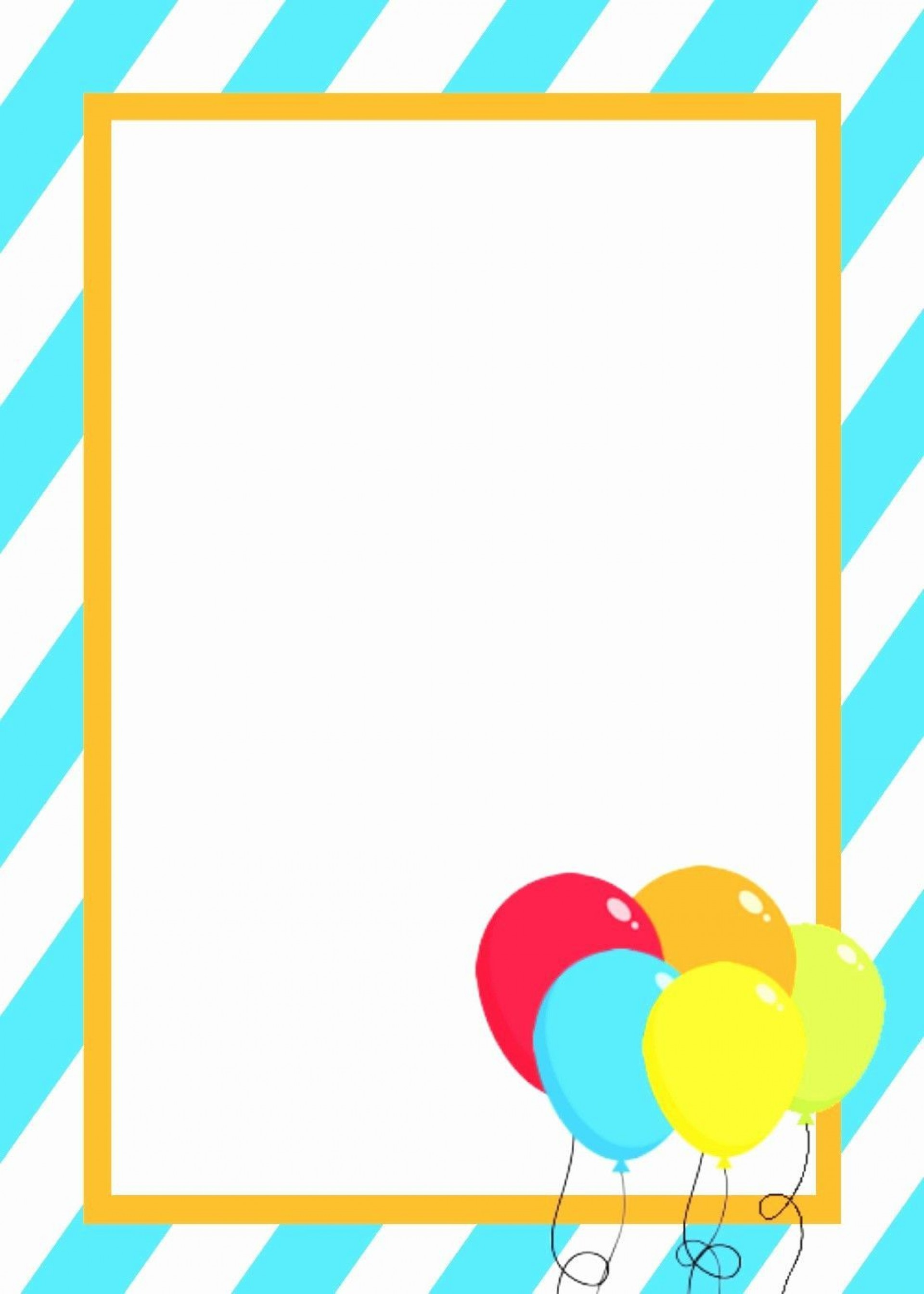 004 Imposing Birthday Invitation Template Word 2020 Example 1920