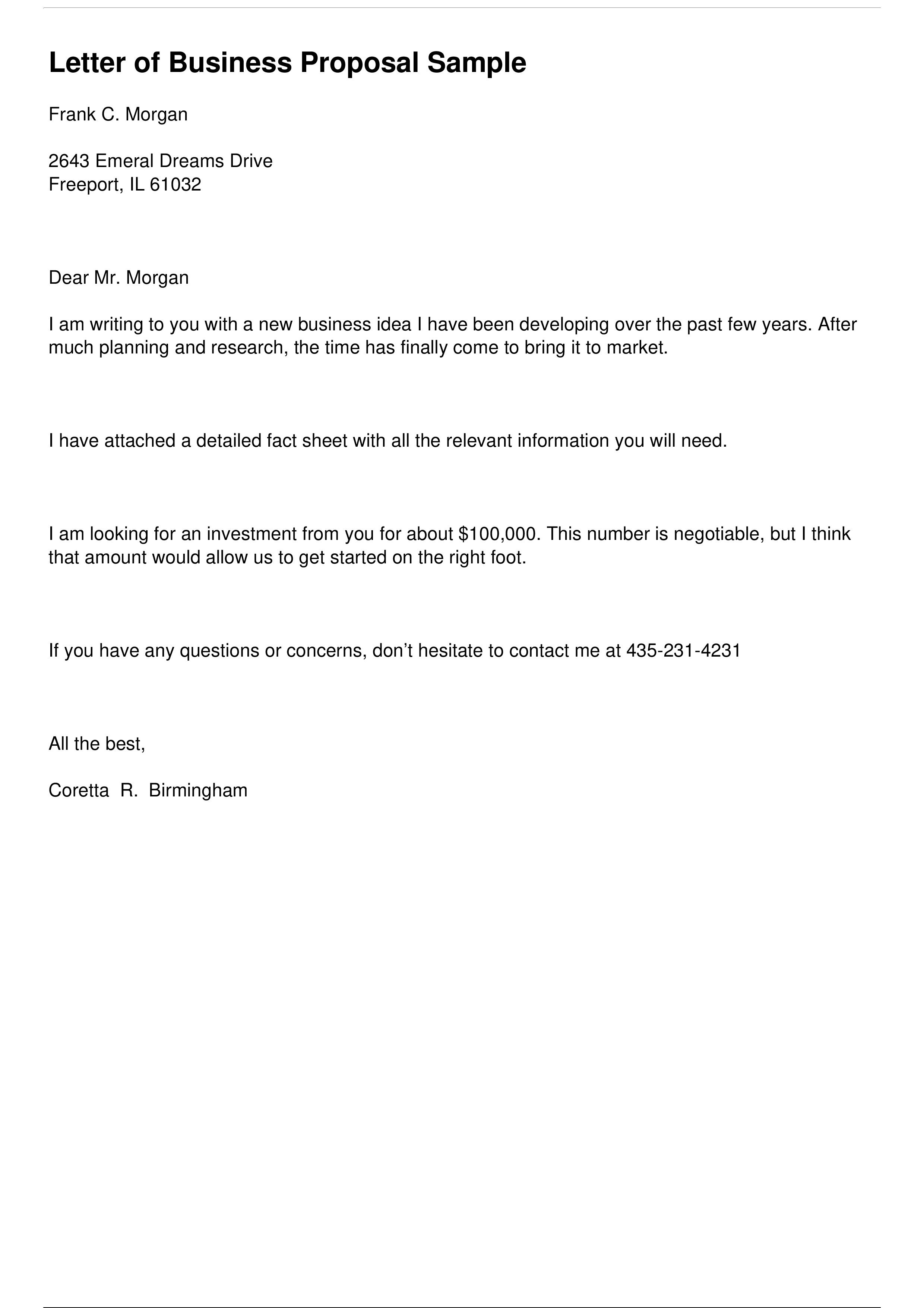004 Imposing Busines Proposal Letter Template High Resolution  Free DownloadFull