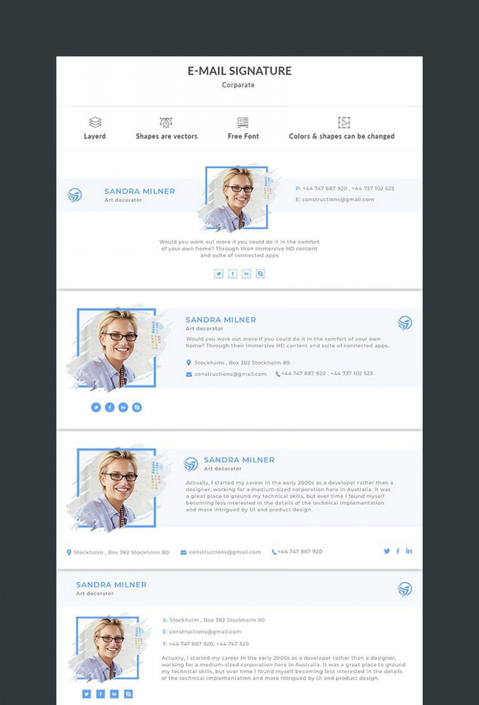 004 Imposing Email Signature Design Outlook Free Highest Clarity Full
