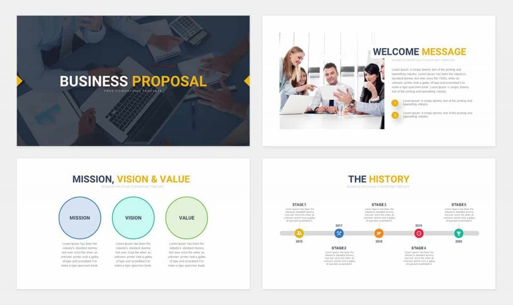 004 Imposing Free Busines Proposal Template Powerpoint Example  Best Plan Ppt 2020 SaleLarge