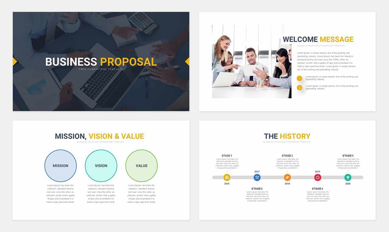 004 Imposing Free Busines Proposal Template Powerpoint Example  Best Plan Ppt 2020 SaleFull