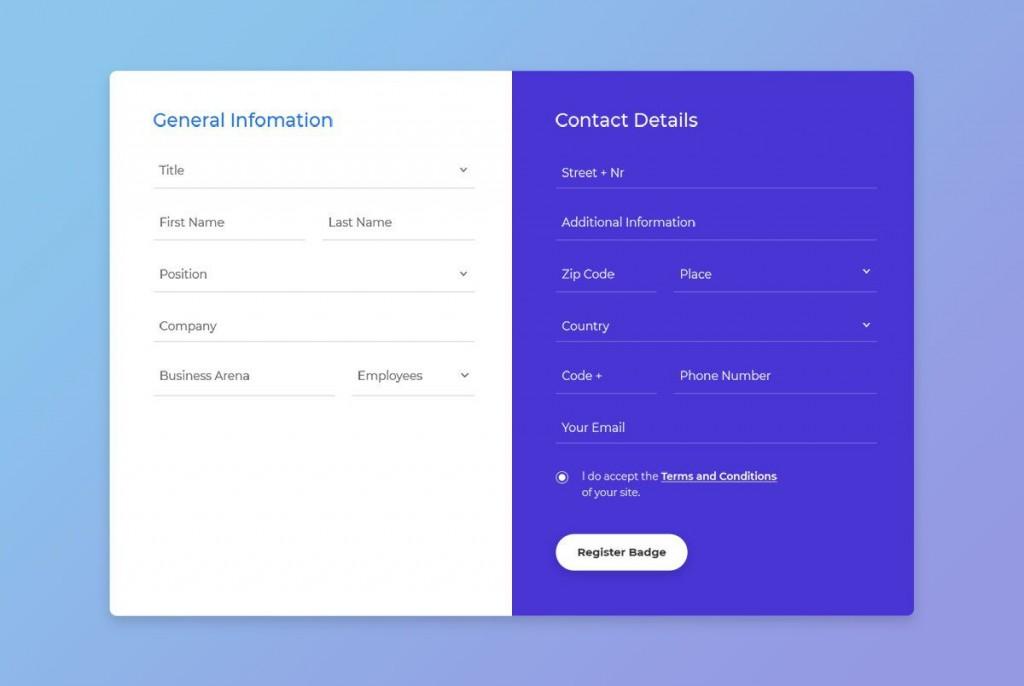 004 Imposing Free Html Form Template Idea  Templates Survey Application Download RegistrationLarge