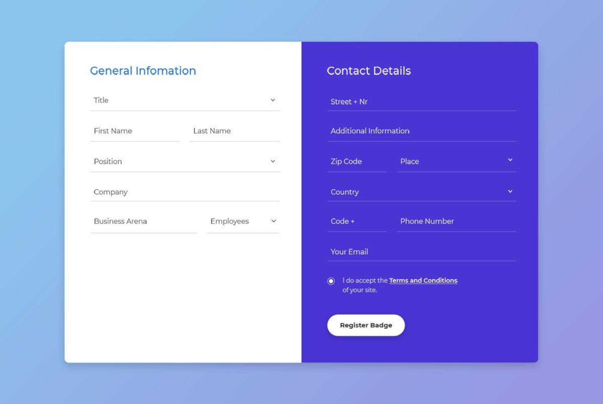 004 Imposing Free Html Form Template Idea  Templates Survey Application Download Registration1920
