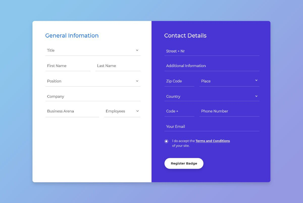 004 Imposing Free Html Form Template Idea  Templates Survey Application Download RegistrationFull