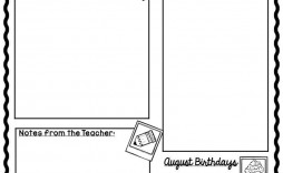 004 Imposing Free Newsletter Template For Teacher Example  Teachers Clas Printable March