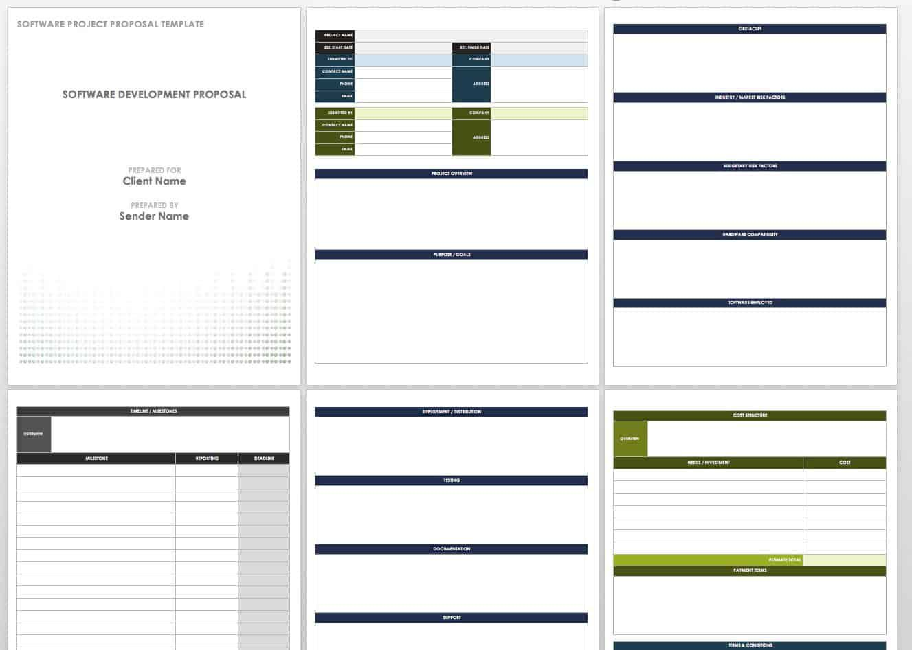 004 Imposing Free Project Proposal Template Example  Document Ppt PdfFull