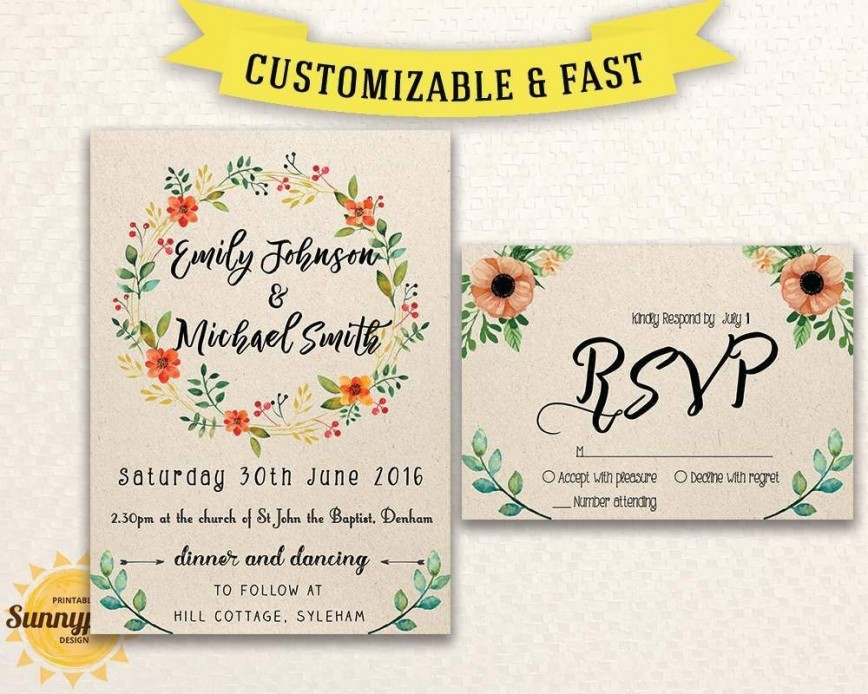 004 Imposing Free Wedding Invitation Template Idea  Indian Photoshop
