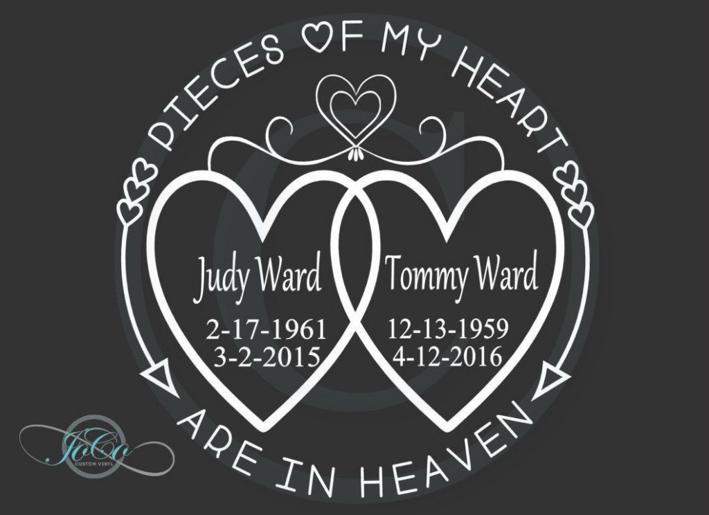 004 Imposing In Loving Memory Decal Template Picture  TemplatesLarge
