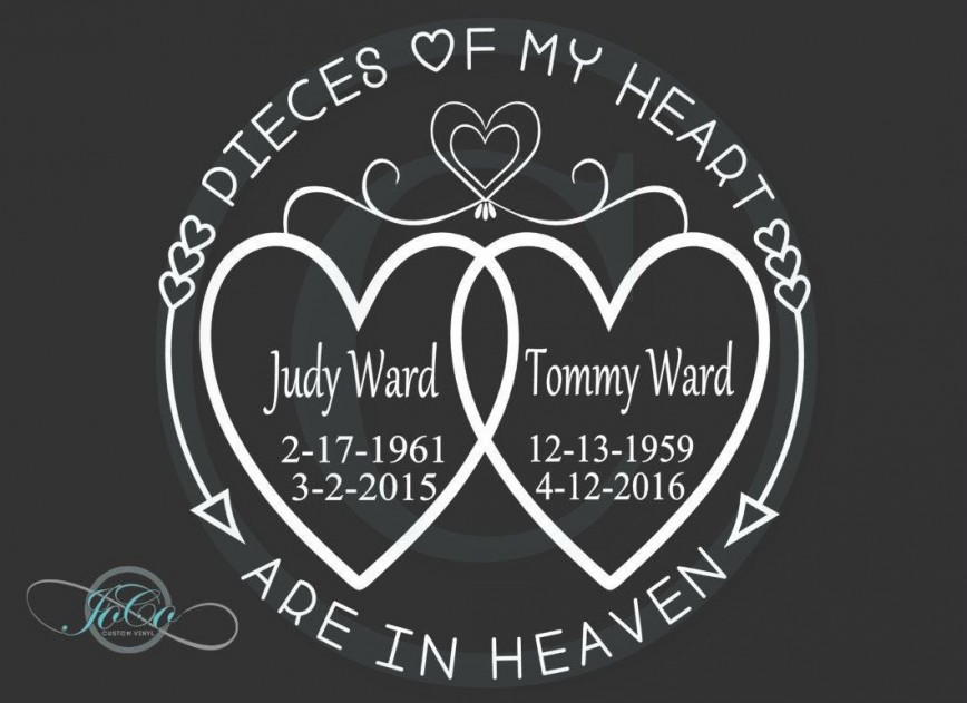 004 Imposing In Loving Memory Decal Template Picture  Templates